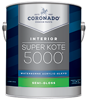 Hattiesburg Paint and Decorating Super Kote 5000® Waterborne Acrylic-Alkyd is the ideal choice for interior doors, trim, cabinets and walls. It delivers the desired flow and leveling characteristics of conventional alkyd paints while also providing a tough satin or semi-gloss finish that stands up to repeated washing and cleans up easily with soap and water.boom